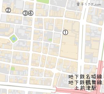 電子パーツ店マップ(名古屋)