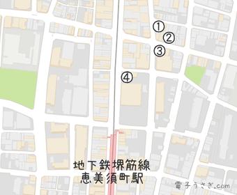 電子パーツ店マップ(大阪)