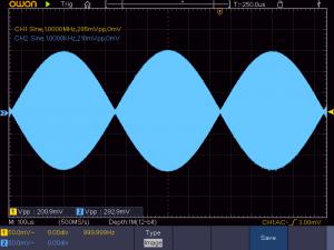 低周波入力時の波形