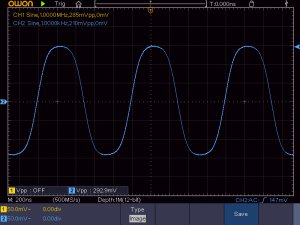 低周波入力時の波形(拡大)