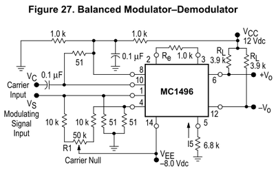 MC1496P 標準ミキサ回路