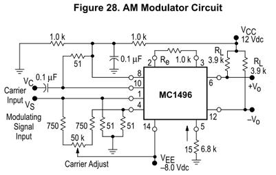 MC1496P AM変調回路