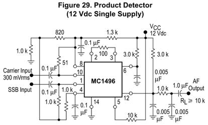 MC1496P プロダクト検波(12V単電源)