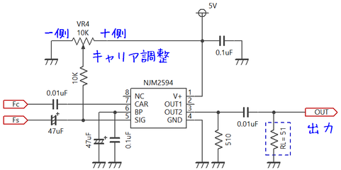 NJM2594 AM変調回路