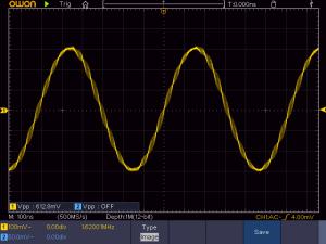 1620KHzの出力波形