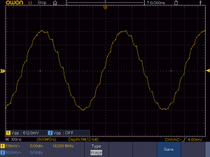 1620KHzの出力波形(シングル)
