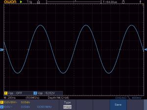 送信周波数:1008KHz 音声信号:無信号 の時の波形