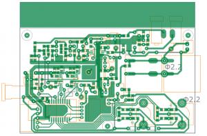 自作AMトランスミッタの基板パターン