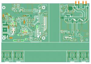 自作安定化電源の基板パターン