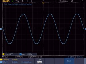 8石スーパーラジオ出力波形(20KHz)