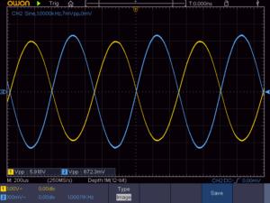 4石スーパーラジオ(中1低2増幅タイプ)の低周波出力波形