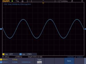 6石スーパーラジオ(中2低3増幅タイプ)低周波出力波形