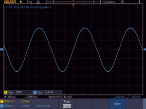6石スーパーラジオ(中2低3増幅トランスレスタイプ)の出力波形2