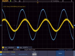 4石スーパーラジオ(高1中1低1増幅タイプ)中間波増幅段出力波形