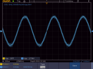 無負荷時のSEEP低周波増幅出力波形