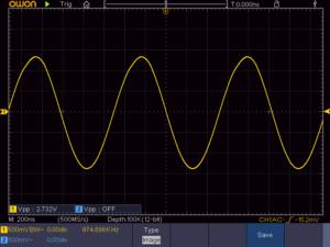 8石スーパーラジオ局部発振波形(低周波)
