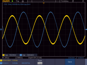 3石スーパーラジオ(レフレックスタイプ)低周波増幅出力波形