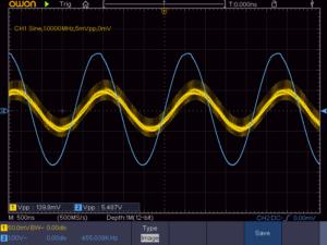 2石スーパーラジオ(中間波増幅タイプ)の中間波波形