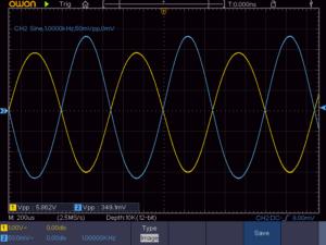 2石スーパーラジオ低周波増幅回路波形