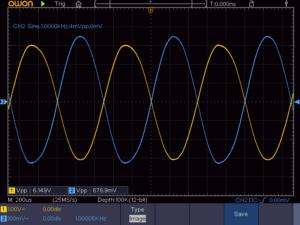 3石スーパーラジオ低周波2段増幅回路波形