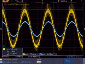 4石スーパーラジオ中間波増幅段1出力波形