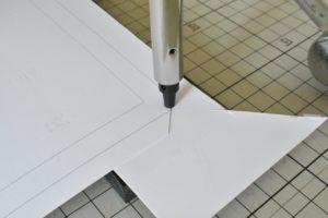 枠紙の加工