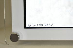 システムの温度表示
