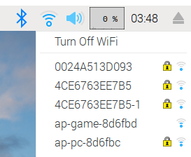 ラズパイのWIFI設定(SSIDの選択)