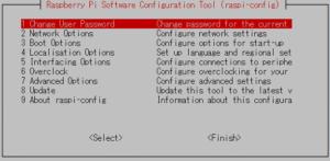 ラズパイ設定ツール(CUI版)