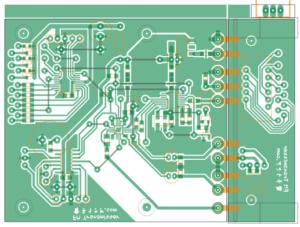 自作FMトランスミッタの基板パターン