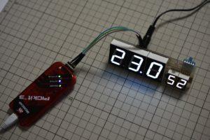 自作電子温湿度計の動作確認2