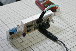 自作電子温湿度計の動作確認