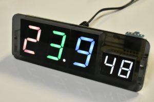 自作電子温湿度計のフィーバーモード