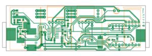 自作電子温湿度計の基板パターン