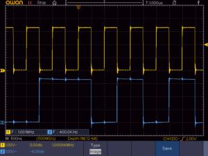 1MbpsのI2S信号波形