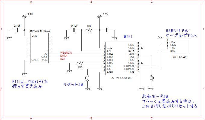 ESP-WROOM-02 検証用回路図