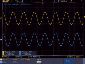 A-817RXIIの10W正弦波出力波形(1KHz)