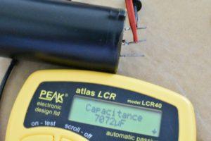 ブロックコンデンサの容量測定