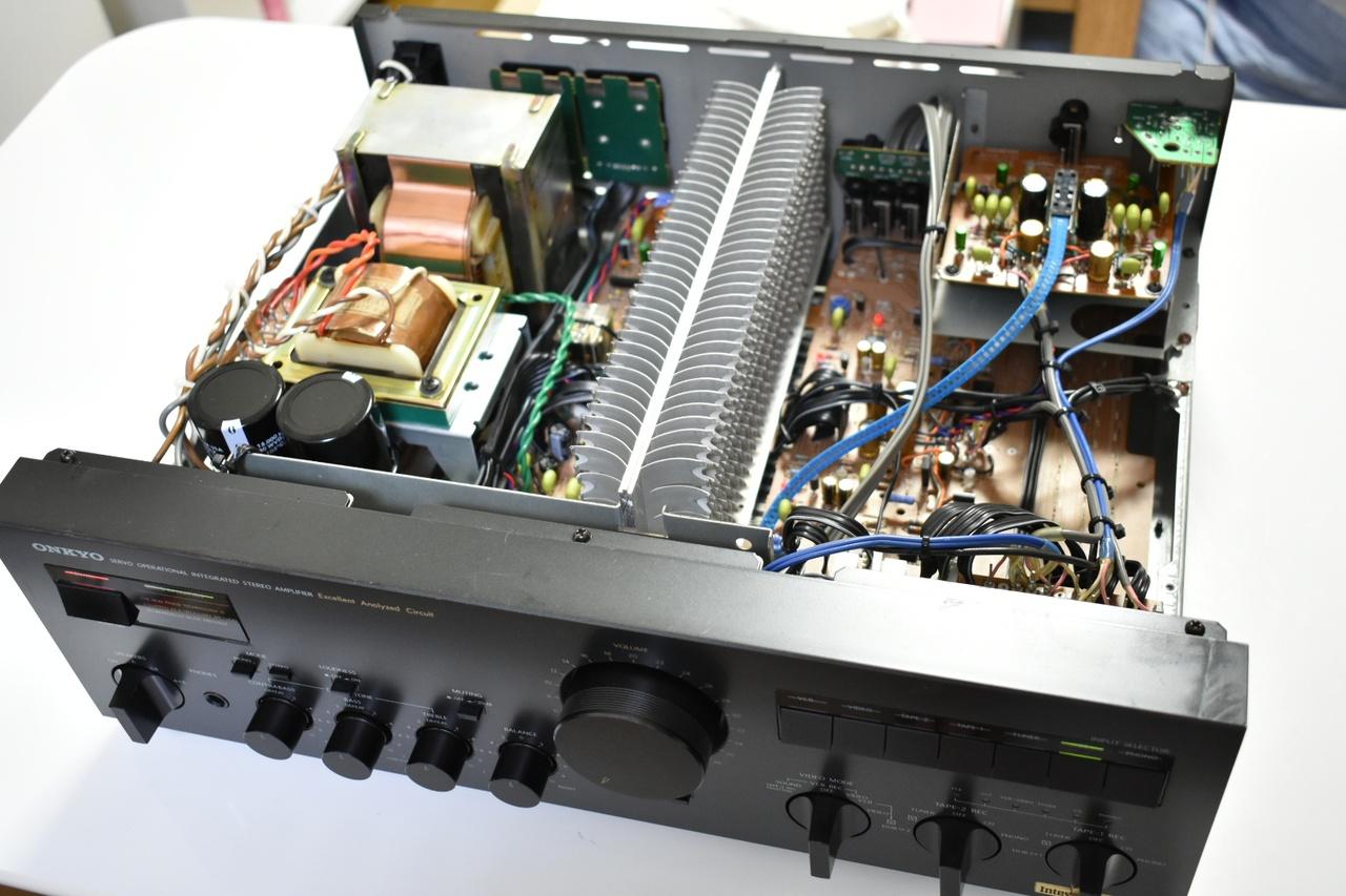 自作アンプの参考に!ONKYO A-817RXII の回路と整備
