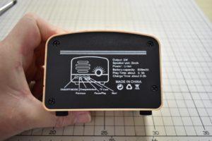 DSPラジオ制作例①のケース背面