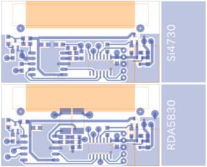 DSPラジオの基板パターン