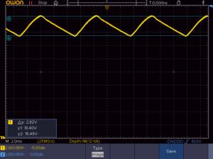 1182Q9 整流後3.1Aの電圧波形
