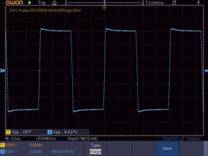 方形波100KHz 無負荷時の波形