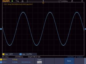 正弦波100KHz 4Ω負荷時の波形