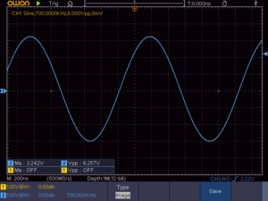 正弦波700KHz 4Ω負荷時の波形