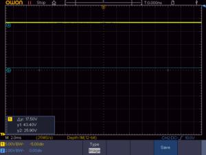 70053K 整流後無負荷時の電圧波形