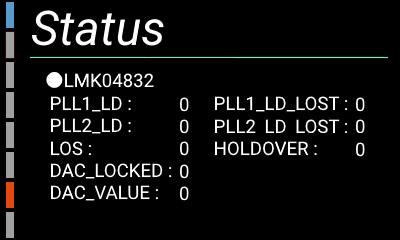 自作ハイレゾアンプの設定画面(ステータス2)