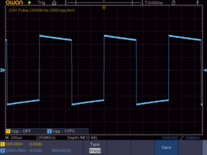 方形波 1KHz 16Ω負荷時の波形