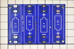自作FM受信機の電源基板(実装前)